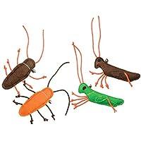 Ethical Pets 昆虫猫咪玩具,4英寸(约10.1厘米),混色