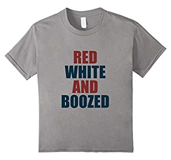 Red white & Boozed T-Shirt 蓝灰色 Kids 8