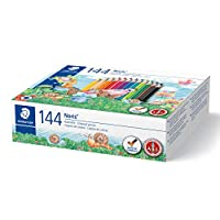 STAEDTLER 144C144 Noris Club 彩色鉛筆,144 件裝,學校盒裝
