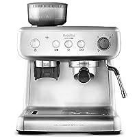 Breville 铂富 VCF126X Barista Max 咖啡机(2.8升水箱,一体式研磨机和牛奶起泡器,也适用于拿铁和卡布奇诺,不锈钢)
