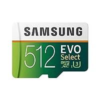 Samsung MB-ME512GA/EU EVO Select microSDXC 内存卡带 SD 适配器 512 GB Class 10