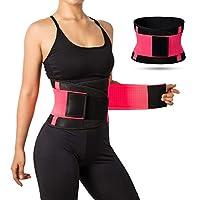 Jueachy 女式腰部训练带,透气汗带 腰部束带修整身塑身衣 *燃烧肚脐腹部塑身带 *健身锻炼 额外测量带