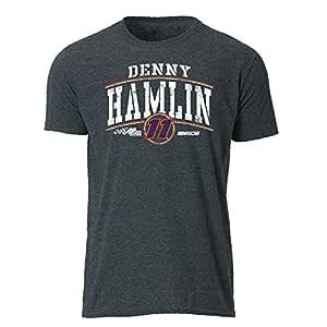 Ouray Sportswear NASCAR Joe Gibbs Racing Denny Hamlin 男士复古薄纱 S/S T 号,深麻灰色,S 码
