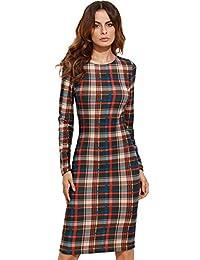 MakeMeChic 女式优雅长袖工装商务鸡尾*铅笔裙