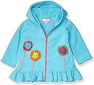 American Widgeon 女童连帽花朵贴花羊毛外套