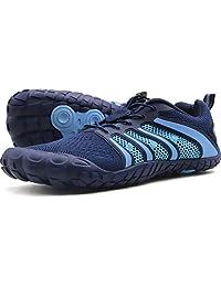 Oranginer 男式赤脚鞋 - 大头鞋盒 - 极简主义男士交叉训练鞋 2-蓝色 9.5