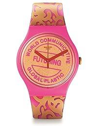Swatch 斯沃琪 瑞士品牌 石英男女适用手表 登顶之路 SUOZ200
