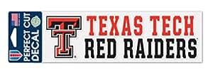 NCAA 德州理工大学红突袭者 7.62 x 25.4 厘米完美切割贴花