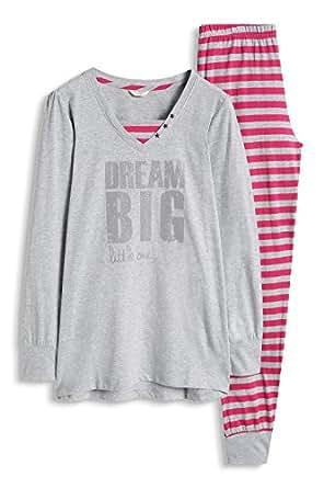 ESPRIT KARA YG 女孩两件套睡衣 灰色 128 (Herstellergröße:128+)