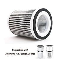 JAYWAYNE 空气净化器替换滤芯 适用于 M6 - 滤芯更换,*适合宠物、烟雾和灰尘的过滤器