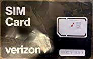 Verizon 3 合 1 邮政/预付 4G LTE SIM 卡,纳米/微/标准尺寸3-in-1 SIM card 3-in-1 4FF / 3FF / 2FF 黑色