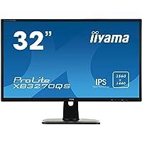iiyama XB3270QS-B1 32 英寸高度可调节 IPS WQHD LED 显示器 - 黑色