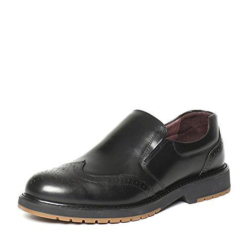 Senda 森达 森达秋季专柜同款打蜡牛皮男鞋 JN105CM6 黑色 42