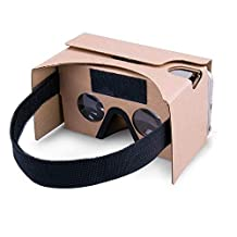 谷歌纸板,虚拟真实商店 3D VR 耳机 DIY 虚拟现实盒眼镜,适合所有 4-6 英寸智能手机 2组 VR2.0 Yellow