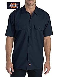 Dickies 男士短袖工作衬衫 深蓝色 3X-Large 22574BK