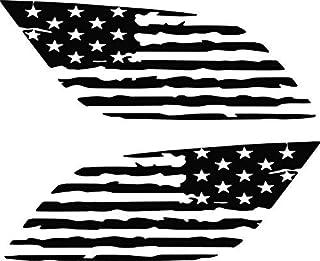 破损仿旧美国国旗道奇杜兰戈侧窗贴花 哑光黑色 NL-VG-2020-05-04-TAFDDSWD-MB-69.99