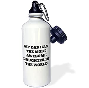 "3dRose wb_184188_1""My dad has the world""运动水瓶,21 盎司,多色"