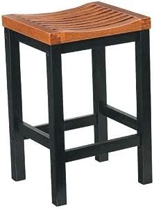 Home Styles 5635-88 黑色和小屋橡木饰面*吧凳