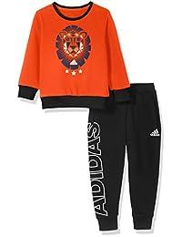 adidas Kids 阿迪达斯 男童 小童针织套服 LK G CREW SET