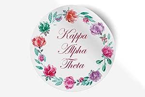 贴纸希腊校友贴纸,适用于汽车、笔记本电脑、窗户、官方*产品,字母设计图案 12.7 cm x 12.7 cm 水彩花卉 Kappa Alpha Theta 010709770197