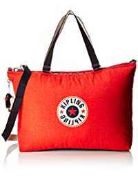 Kipling 凯浦林 XL 包帆布和沙滩手提包,64 厘米,31.5 升,红色(活力黑色)