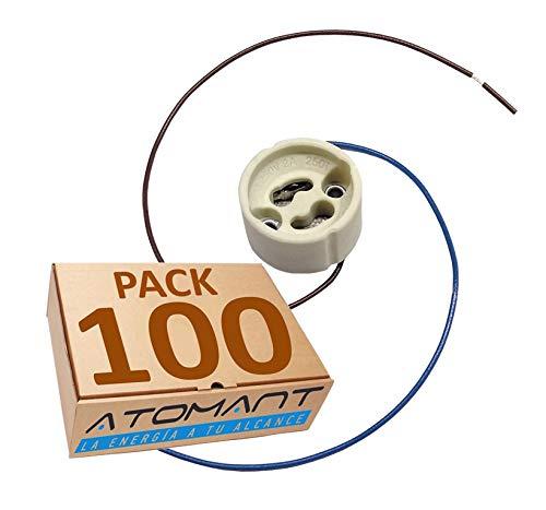GU10長いケーブル用×100の3単位Atomant LEDパッケージホルダー20センチ白