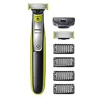 Philips 飞利浦 OneBlade QP2530 / 30, 修剪,造型,剃须/ 4个修剪附件,备用刀片 Grün / Schwarz