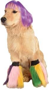 Rubie's 紫色 Bob Wig Go Go Dancer 宠物狗服装配饰 多种颜色 小号/中号