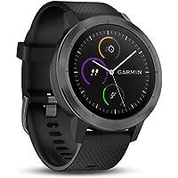 佳明(GARMIN) Vivoactive3 迪丽热巴同款多功能GPS智能支付运动手表 邃空黑(PVD镀膜)