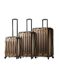 Mia Toro 意大利 Lustro 行李箱 3 件套,金色