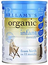 Bellamy's 贝拉米 有机婴幼儿牛奶粉1段 900g(0-12个月适用) 包邮包税【跨境自营】