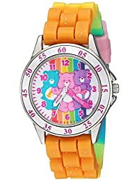 Care Bears 女童石英塑料和橡胶手表,多色(型号:CRB9001)