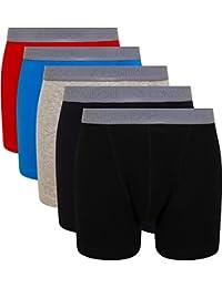 FM 伦敦5-pack 男式平角内裤带 hyfresh odour 保护技术 | 无标签超软24HR 平角短裤