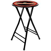 Trademark Gameroom Budweiser 软垫折叠凳,黑色,24 英寸