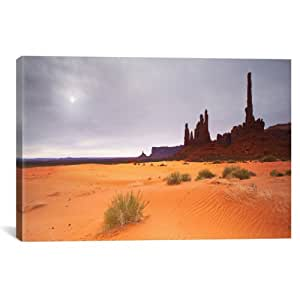 iCanvasART MOL46 Monument Valley Panorama by Moises Levy Comics Canvas Print, 26 by 18-Inch, 1.5-Inch Deep