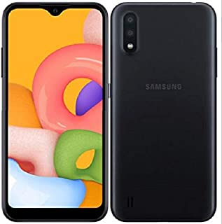 Samsung 三星 Galaxy A01 (16GB,2GB RAM) 5.7 Infinity-V 显示屏,双后置摄像头,Snapdragon 439,美国&全球 4G LTE GSM 解锁A015M/DS - 国际模式SM-A015M/DS  16GB + 64GB SD Bundle