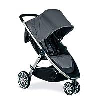 Britax B-Lively 轻质婴儿车,乌鸦单手,轻松折叠+无限躺椅+前置存储+躲猫窗口, 鸽子