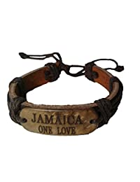 皮革手链 Jamaica;One Love & Respect Mon