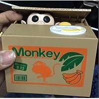 Resulzon 偷盗硬币熊猫盒 - 小猪存钱罐 - 熊猫 - 英语说话 - 送给任何孩子的*礼物 黄色