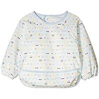 【Amazon.co.jp限定】DISNEY 长袖围裙 A2CA1 [対象] 6ヶ月 ~ 48ヶ月 蓝色 70~80