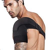 TOBWOLF 护肩,可调节透气氯丁橡胶压缩支撑套,肩部包裹带适用于旋转袖口撕裂、滑囊*、*、肩部脱臼