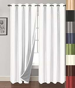 "Siena Home Fashions Buona Notte 遮光窗帘 白色 54""x84"" B00LXGUFGE"