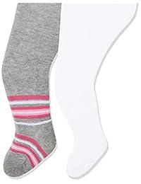 Playshoes 女童弹性纯色低腰连裤袜(2 件)