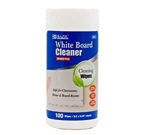 BAZIC 100 Count White Board Surface Wipes, Case of 12 (6000-12)