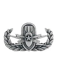 EOD(爆炸性常规处理)金属徽章徽章徽章徽章 - 氧化银