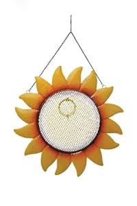 Toland Home Garden 向日葵装饰黑油向日葵种子悬挂金属屏幕喂食器篮笼 适用于野生鸟 230007