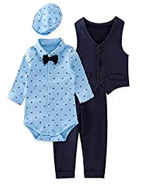Bilo Store 婴幼儿男婴 4 件套燕尾服正装套装