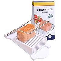 NVTED 午餐肉切片器,煮蛋水果软奶酪切片机,不锈钢线,切削 10 片
