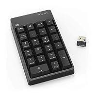 无线数字键盘,带迷你 USB 接收器,适用于笔记本电脑、台式机 22-Key