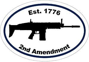枪贴花 - 突击步枪剪影 1776 *二修正案乙烯基贴纸 - *二修正案保险杠贴纸 - 枪贴纸 - *二修正案礼物 - 美国制造
